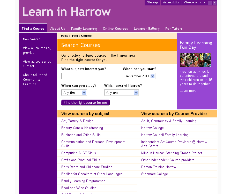 Learn in Harrow